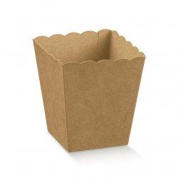 10 Cajas para palomitas. Kraft natural