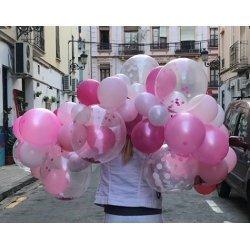 Guirnalda de globos en tonos rosa - Kit