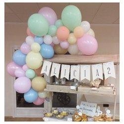 Guirnalda de globos en tonos pastel - Kit