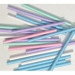 10 Pajitas de papel para granizados. Disponibles en 5 colores