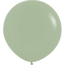Globo de látex color eucalipto. 60 cms