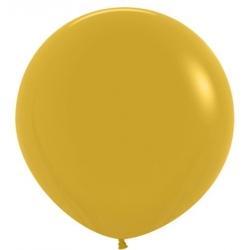 Globo de látex color mostaza. 60 cms