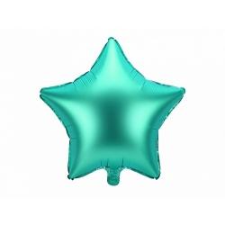 Globo metalizado estrella verde. 48 cms