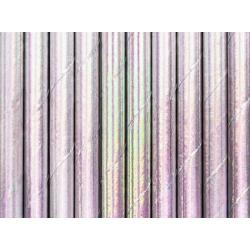 10 Pajitas de papel irisadas