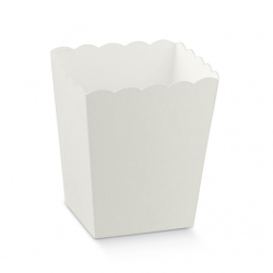 10 Cajas blancas para palomitas
