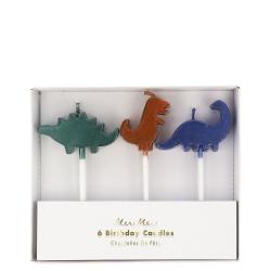 6 velas Dinosaurio