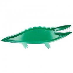 8 Platos-bandeja cocodrilo. Fiesta Safari-Animales de la selva