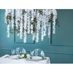 Guirnalda de flores blancas - Fondo photocall - Back drop - Mesas Dulces.