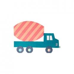 16 servilletas camión-hormigonera.