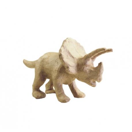 Dinosaurio/Triceratops de cartón kraft.