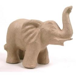 Elefante de cartón kraft. 17 cms
