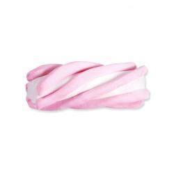 125 Nubes de esponja, rosa y blanco - Chuchería