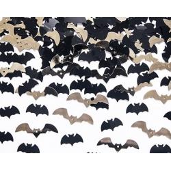 Confeti murciélagos negros y dorados. 15 grs