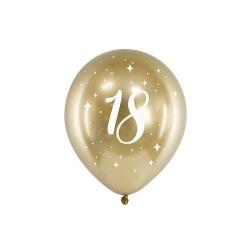 6 Globos dorados 18 años