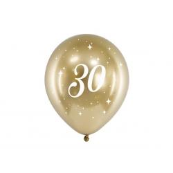 6 Globos dorados 30 años