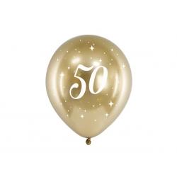 6 Globos dorados 50 años
