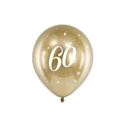 6 Globos dorados 60 años