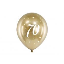 6 Globos dorados 70 años