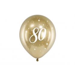 6 Globos dorados 80 años