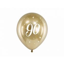 6 Globos dorados 90 años