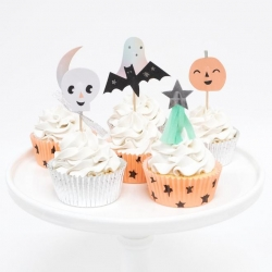 Kit para decorar cup cakes. topper Halloween