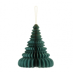 Árbol de Navidad verde 24 cms. Bola nido de abeja