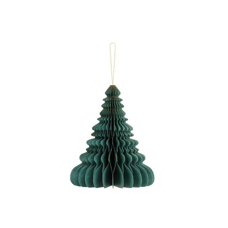 Árbol de Navidad verde 20 cms. Bola nido de abeja