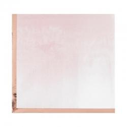 16 Servilletas rosa con efecto splash