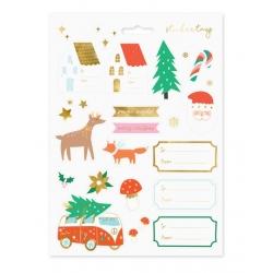 20 Adhesivos-pegatinas navideñas Xmas van