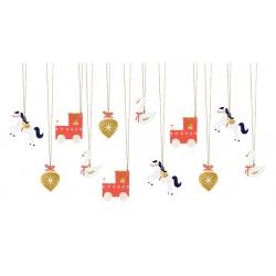 12 Etiquetas colgantes navideñas Choo choo