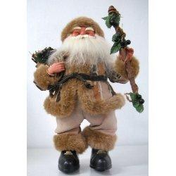 Papa Noel musical crema 38 cms