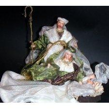 Nacimiento - Belén de Navidad blanco y verde 1 pieza h.20 ms