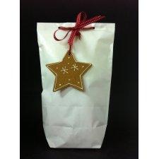 50 Bolsas de papel tipo americano con base, papelblanco brillo.