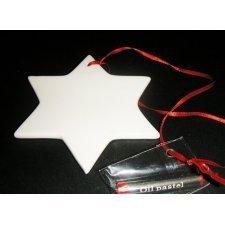 4 Estrellas / pizarra de cerámica blanca