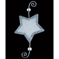 Estrella de madera con espiral de metal c/6 uds