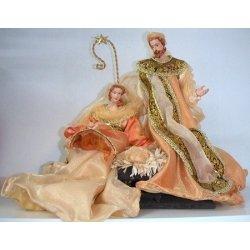 Nacimiento - Belén de Navidadsalmón y oro