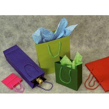 Bolsa de papel semilujo, 22x29x10 cms. C/12 uds