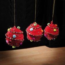 Bola de navidad funny roja 15cms