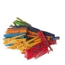Pinza colores stdos 35 mm c/100 uds