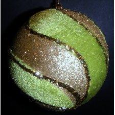 2 Bolas verde/oro 10 cms