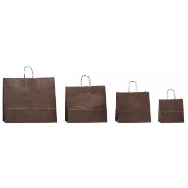 Bolsa de papel con asa retorcida, 32x12x40 paquete de50 uds
