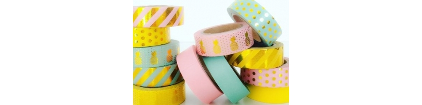 Washi tapes metalizados - Foil washi tape